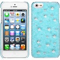 BasAcc Baby Blue/ Pearl/ Diamante Case for Apple iPhone 5