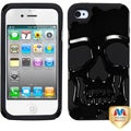 BasAcc Solid Black Skullcap Hybrid Case for Apple iPhone 4S/ 4