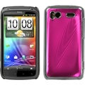 BasAcc Hot Pink/ Brushed Metal/ Cosmo Case for HTC Sensation 4G