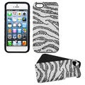 BasAcc Black/ Zebra Skin/ Diamante Fusion Case for Apple iPhone 5