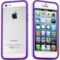 BasAcc Purple/ Solid White MyBumper Phone Case for Apple iPhone 5