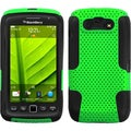 This is a BasAcc Green/ Black Case for Blackberry Torch 9850/ 9860