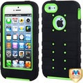 BasAcc Pearl Green/ Black TUFF eNUFF Hybrid Case for Apple iPhone 5