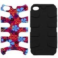 BasAcc Flower/ Flake/ Black Fishbone Phone Case for Apple iPhone 4S/ 4