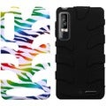 BasAcc Colorful Zebra/ Black Fishbone Case for Motorola XT862 Droid 3