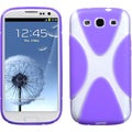 BasAcc Clear/ Purple X-shape Skin Case for Samsung Galaxy S3 i9300