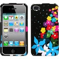 BasAcc Rainbow Flower Phone Case for Apple iPhone 4S/ 4