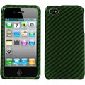 BasAcc Racing Fiber/ Dark Green/ Silver Case for Apple iPhone 4S/ 4