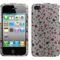 BasAcc Polka Stars 2D Silver Phone Case for Apple iPhone 4S/ 4