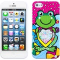 BasAcc Hot Pink/ Lotus/ Frog Candy Skin Case for Apple iPhone 5