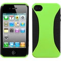 BasAcc Apple Green/ Black Mixy Phone Case for Apple iPhone 4S/ 4