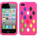 BasAcc Hot Pink/ Module Skin Case for Apple iPhone 4S/ 4