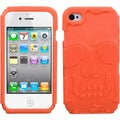 BasAcc Orange Skullcap Base Hybrid Case for Apple iPhone 4S/ 4