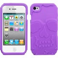 BasAcc Electric Purple/ Skullcap Hybrid Case for Apple iPhone 4S/ 4