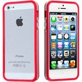 BasAcc Red/ Transparent Clear MyBumper Phone Case for Apple iPhone 5