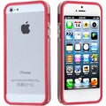 BasAcc Hot Pink/ Transparent Clear MyBumper Case for Apple iPhone 5