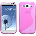 BasAcc Hot Pink/ S-shape Candy Case for Samsung Galaxy S3/ III i9300