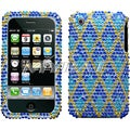 BasAcc Blue Rhombic/ Plaid/ Diamante Case for Apple iPhone 3GS/ 3G