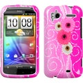 BasAcc Brilliant Flowers Phone Protector Case For HTC Sensation 4G