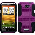 BasAcc Purple/ Black Case for HTC One X/ One X+