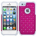 BasAcc Hot Pink/ White Case For Apple iPhone 5