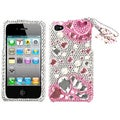 BasAcc Pink Romance 3D Diamante Case for Apple iPhone 4/ 4S