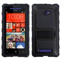 BasAcc Black Gummy Armor Stand Case for HTC Windows Phone 8X