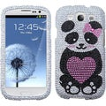 BasAcc Panda Heart Diamond Case for Samsung Galaxy S III/ S3 i9300