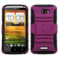 BasAcc Hot Pink/ Black Advanced Armor Stand Case for HTC One X One X+