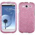 BasAcc Pink/ White Dots Diamante Case for Samsung Galaxy S III/ S 3