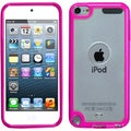 BasAcc Clear/ Solid Hot Pink Case for Apple iPod Touch 5th Generation