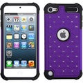 BasAcc Purple/ Black Lattice TotalDefense Case for Apple iPod touch
