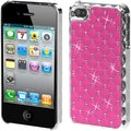 BasAcc Pink/ Silver Dazzling Diamond Back Case for Apple iPhone 4S/ 4