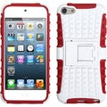 BasAcc White/ Red Advanced Armor Stand Case for Apple iPod touch 5