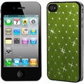 BasAcc Green Studded/ Black Case for Apple iPhone 4S/ 4