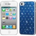 BasAcc Dark Blue/ Studs/ White Case for Apple iPhone 4S/ 4