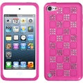 BasAcc Silver/ Pink Checker Diamond Case for Apple iPod touch 5