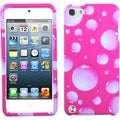 BasAcc White Pink Bubble Hybrid Case for Apple iPod Touch 5