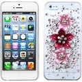 BasAcc Hot Pink Starburst Bloom 3D Diamante Case For Apple iPhone 5