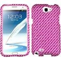 BasAcc Stripe Pink/ Pink Diamante Case For Samsung Galaxy Note II