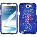 BasAcc Juicy Flower Diamante Protector Case For Samsung� Galaxy Note 2