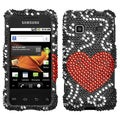 BasAcc Curve Heart Diamante Case For Samsung� M820 Galaxy Prevail
