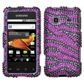 BasAcc Purple/ Black Diamante Case For Samsung� M820 Galaxy Prevail