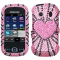 BasAcc Fervor Heart Diamante Protector Case For Samsung� M350 Seek
