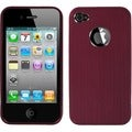 BasAcc Red/ Chrome Ironside Shield for Apple iPhone 4S/ 4
