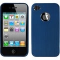 BasAcc Blue/ Chrome Ironside Shield for Apple iPhone 4S/ 4