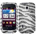 BasAcc Black Zebra Diamante Case for Huawei U8652 Fusion