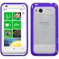BasAcc Clear/ Purple Gummy Case for HTC Radar 4G