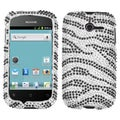 BasAcc Black Zebra Skin Diamante Case for Huawei M866 Ascend Y