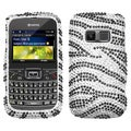 BasAcc Black Zebra Skin Diamante Case Cover For KYOCERA S3015 Brio